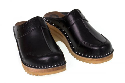 Women's Troentorp Clogs. Durer. Black leather 112584